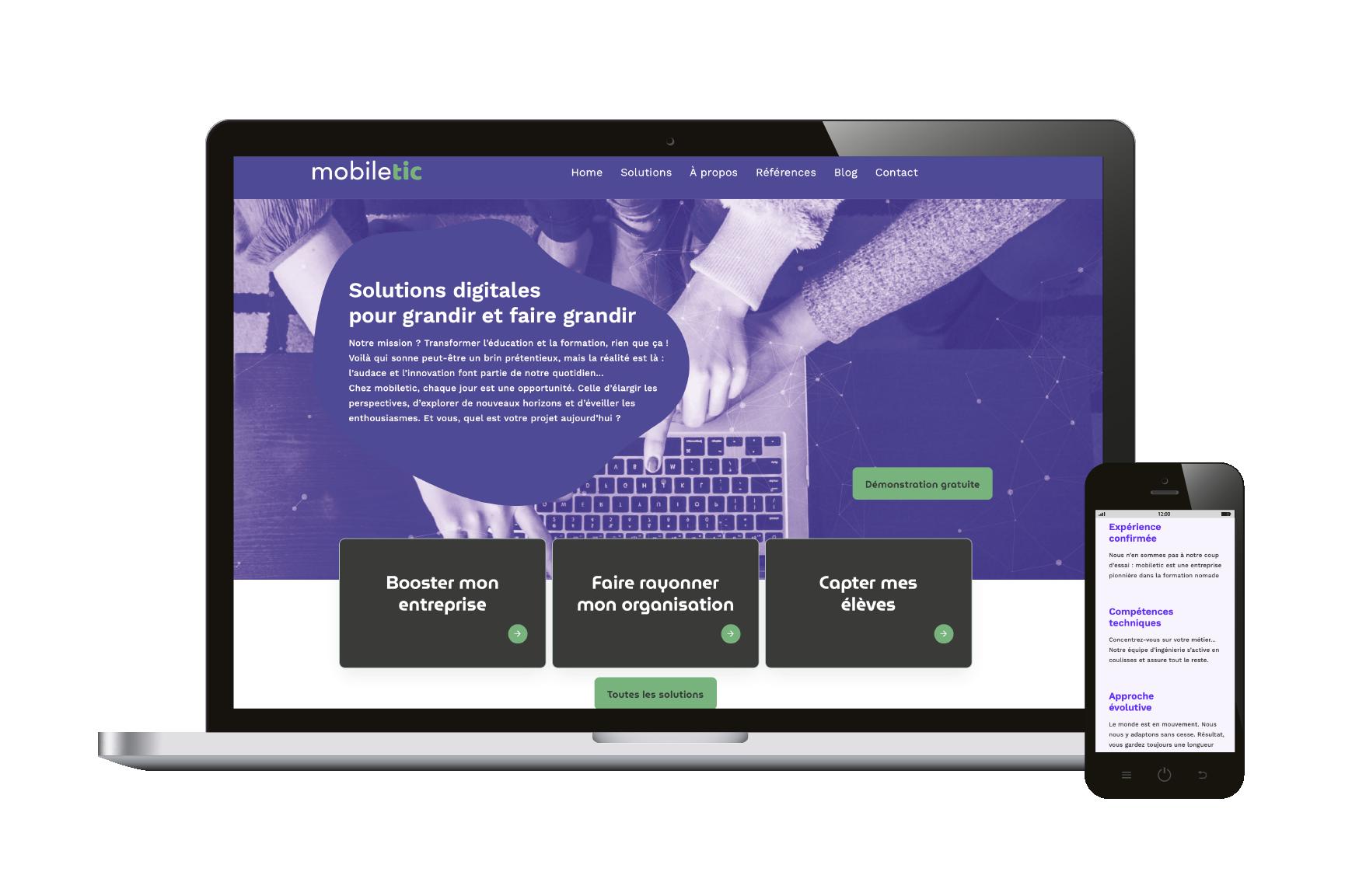 Contenus site web mobiletic